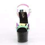 Zwart 18 cm SKY-320MMR glitter plateau schoenen dames met hak