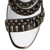 Zwart 19 cm BONDGIRL-768 gladiator laars dames met hoge hakken