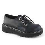 Zwart 3 cm DEMONIA LILITH-99 gothic plateau schoenen