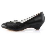 Zwart 4 cm LULU-05 Pinup pumps schoenen met lage hakken