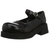 Zwart 5 cm CRUX-07 lolita damesschoenen met plateauzolen