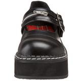 Zwart 5 cm EMILY-306 lolita damesschoenen met plateauzolen