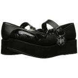 Zwart 6 cm DEMONIA SPRITE-05 gothic plateau schoenen