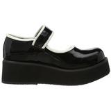 Zwart 6 cm SPRITE-01 lolita damesschoenen met plateauzolen