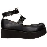 Zwart 6 cm SPRITE-02 lolita schoenen met plateau