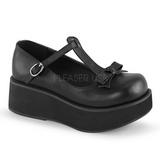 Zwart 6 cm SPRITE-03 lolita schoenen gothic schoenen met dikke zolen