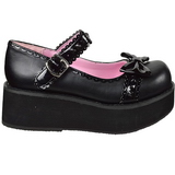 Zwart 6 cm SPRITE-04 lolita schoenen met plateau