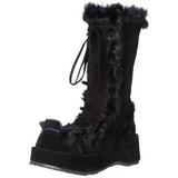 Zwart 7 cm CUBBY-311 lolita laarzen gothic met dikke zolen