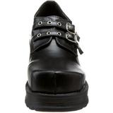 Zwart 7 cm TRUMP-101 lolita damesschoenen met plateauzolen