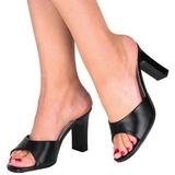 Zwart 8,5 cm ROMANCE-301-2 Hoge Mules Schoenen voor Mannen