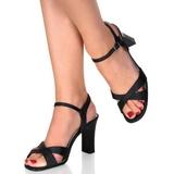 Zwart 8,5 cm ROMANCE-313 Dames Sandalen met Hak