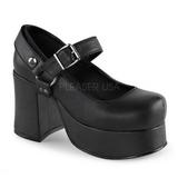 Zwart 9,5 cm ABBEY-02 gothic lolita schoenen plateauzolen