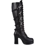 Zwart 9,5 cm GOTHIKA-209 lolita laarzen gothic met dikke zolen