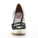 Zwart 9,5 cm POPPY-18 Pinup pumps schoenen met lage hakken