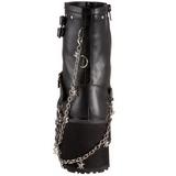 Zwart 9 cm CLASH-430 lolita enkellaarzen gothic met dikke zolen