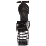 Zwart Acryl 20 cm FLAMINGO-889LN Dames Sandalen met Hak