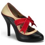 Zwart Beige 11,5 cm TEMPT-27 damesschoenen met hoge hak