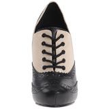Zwart Beige 11,5 cm retro vintage CUTIEPIE-14 Oxford Pumps Schoenen Plat