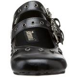 Zwart DAISY-03 gothic ballerina platte schoenen