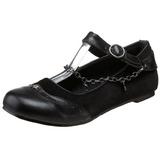 Zwart DAISY-07 gothic ballerina platte schoenen