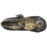 Zwart DAISY-09 gothic ballerina platte schoenen