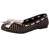 Zwart DAISY-20 gothic ballerina platte schoenen