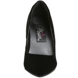 Zwart Fluweel 10 cm VANITY-420 Dames Pumps Schoenen Plat