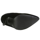 Zwart Fluweel 13 cm SEDUCE-420 Hoge Hakken Pumps voor Heren