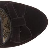 Zwart Fluweel 6,5 cm BORDELLO WHIMSEY-115 Enkellaarzen