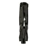 Zwart Gelakt 13 cm Pleaser ELECTRA-1020 Plateau Enkellaarzen