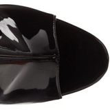 Zwart Gelakt 16,5 cm Pleaser ILLUSION-1018 Plateau Enkellaarzen