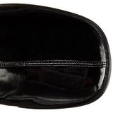 Zwart Gelakt 8 cm GOGO-3000 Overknees Dames Laarzen