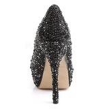 Zwart Glinsterende Steentjes 13,5 cm FELICITY-20 damesschoenen met hak