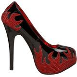 Zwart Glinsterende Steentjes 14,5 cm Burlesque TEEZE-27 damesschoenen met hak