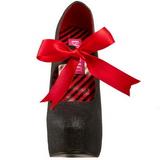 Zwart Glitter 14,5 cm TEEZE-04G damesschoenen met hoge hak