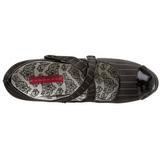 Zwart Krijtstreep 14,5 cm TEEZE-23 damesschoenen met hoge hak
