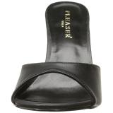 Zwart Kunstleer 10 cm CLASSIQUE-01 grote maten mules schoenen