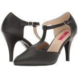 Zwart Kunstleer 10 cm DREAM-425 grote maten pumps schoenen