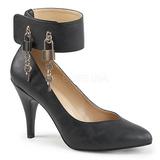 Zwart Kunstleer 10 cm DREAM-432 grote maten pumps schoenen