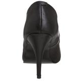 Zwart Kunstleer 10 cm VANITY-420 Dames Pumps Schoenen Plat