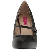 Zwart Kunstleer 11,5 cm PINUP-01 grote maten pumps schoenen