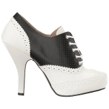 Zwart Kunstleer 11,5 cm PINUP-07 grote maten oxford schoenen
