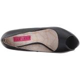 Zwart Kunstleer 13,5 cm CHLOE-01 grote maten pumps schoenen