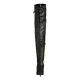 Zwart Kunstleer 13 cm LEGEND-8899 Hoge Overknee Laarzen