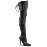 Zwart Kunstleer 13 cm LEGEND-8899 Overknee Laarzen voor Heren