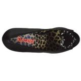 Zwart Kunstleer 13 cm PIXIE-17 hoge damesschoenen met studs