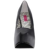 Zwart Kunstleer 14,5 cm Burlesque TEEZE-06W mannen pumps voor brede voeten
