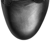 Zwart Kunstleer 15,5 cm DELIGHT-1020 Plateau Enkellaarzen