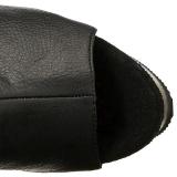 Zwart Kunstleer 15 cm DELIGHT-3019 overknee laarzen med plateauzool