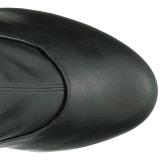 Zwart Kunstleer 15 cm KISS-3000 overknee laarzen med hoge hakken